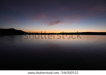 Elephant Butte Lake State Park in southern New Mexico. - stock photo