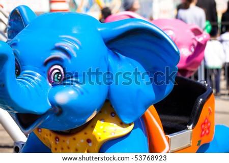 Elephant carnival Ride - stock photo