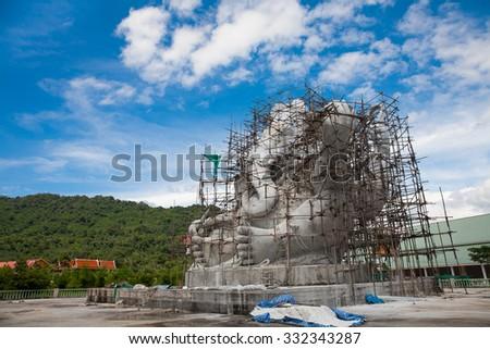 elephant-headed deity F - stock photo