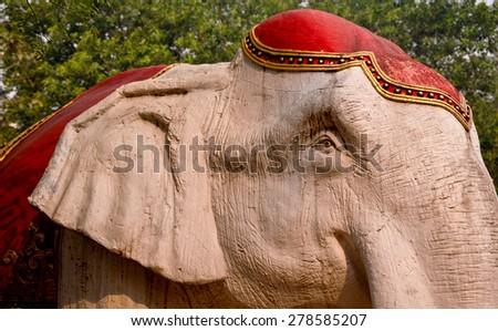 Elephant statue - stock photo