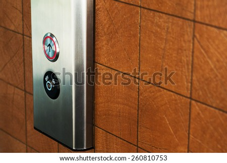 Elevator Button up and down direction . - stock photo