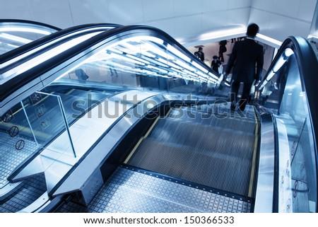 Elevator in shopping malls - stock photo