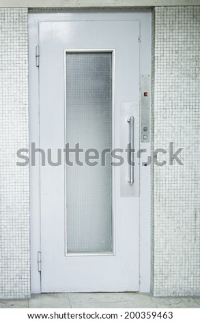 Elevator old property, construction and architecture - stock photo