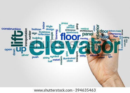 Elevator word cloud concept - stock photo