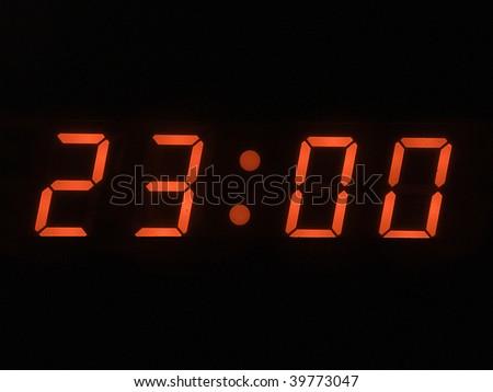 eleven o clock pm - stock photo