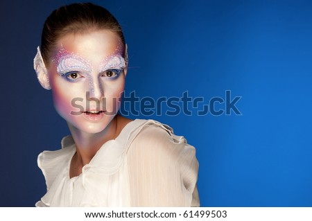 Elf-girl fairytale heroine. - stock photo
