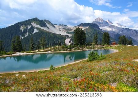Elfin Lakes in Garibaldi Provincial Park in British Columbia, Canada - stock photo