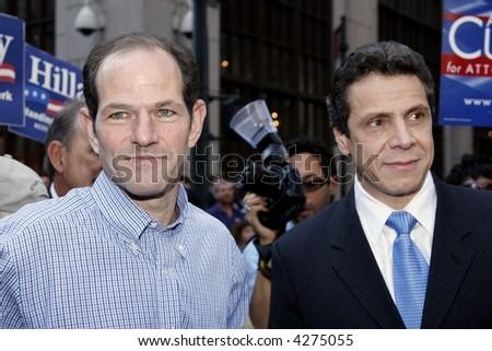 Eliot Spitzer and Andrew Cuomo - stock photo