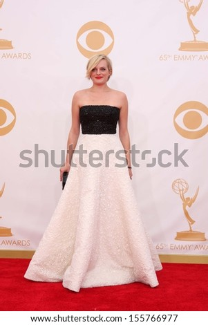 Elisabeth Moss at the 65th Annual Primetime Emmy Awards Arrivals, Nokia Theater, Los Angeles, CA 09-22-13 - stock photo