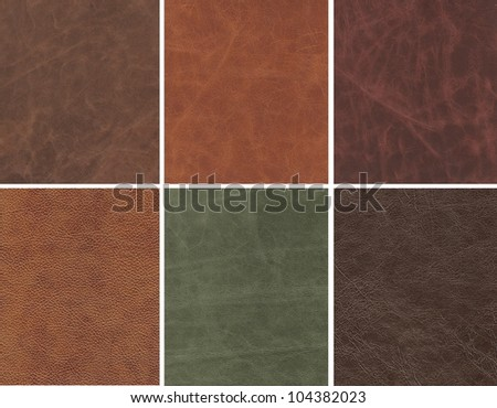 Elite Leather collection background. - stock photo