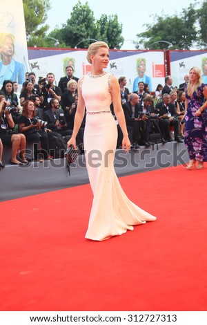 Elizabeth Banks attends the opening ceremony and premiere of 'Everest' during the 72nd Venice Film Festival on September 2, 2015 in Venice, Italy. - stock photo