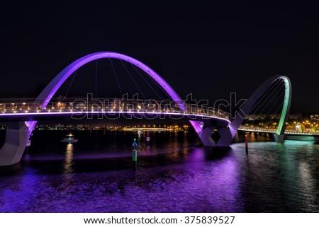 Elizabeth Quay in Perth Western Australia - stock photo