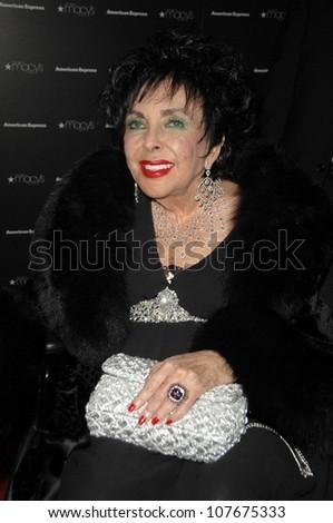 Elizabeth Taylor  at the Macy's Passport 2008 Gala. Barker Hanger, Santa Monica, CA. 09-25-08 - stock photo
