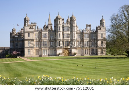 Elizabethan Stately Home - stock photo