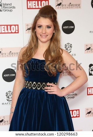 Ella Henderson arriving at the The Amy Winehouse foundation ball held at the Dorchester hotel, London. 20/11/2012 Picture by: Henry Harris - stock photo