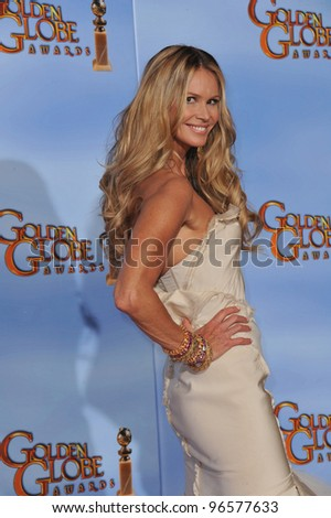 Elle MacPherson at the 69th Golden Globe Awards at the Beverly Hilton Hotel. January 15, 2012  Beverly Hills, CA Picture: Paul Smith / Featureflash - stock photo