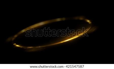 Ellipse shiny form. luminous swirling backdrop. Glowing oval. Shine round frame with light circles light effect. Glowing cover. Space for your message. - stock photo