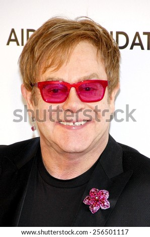 Elton John at the 21st Annual Elton John AIDS Foundation Academy Awards Viewing Party held at the Pacific Design Center in Los Angeles, United States, 240213.  - stock photo