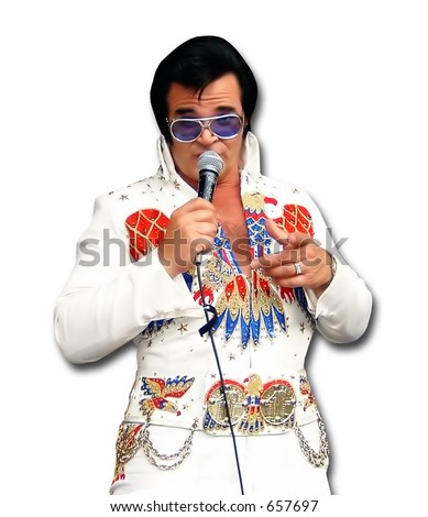 Elvis impersonator in Las Vegas, Nevada - stock photo