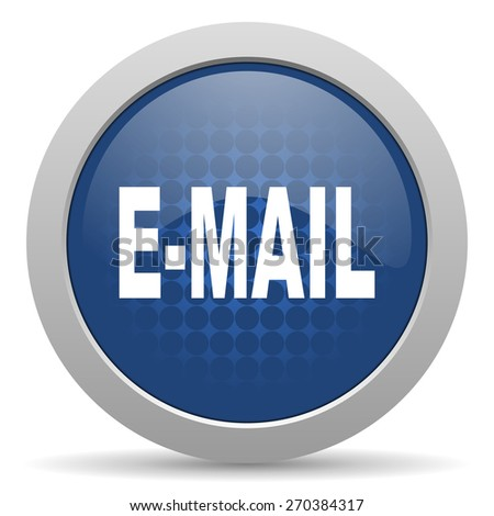 email blue glossy web icon  - stock photo