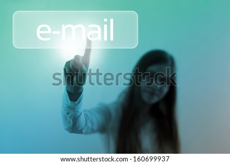 email button - stock photo