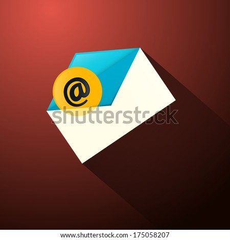Email Envelope Icon - Also Available in Vector Version  - stock photo