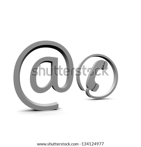 email phone support - stock photo