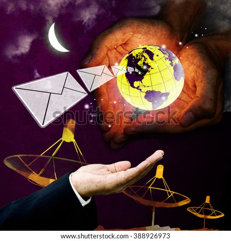 Email protection technology, Communication concept - stock photo