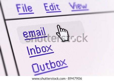 email screen - stock photo