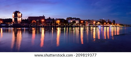 Embankment of Rostov-on-Don. Russia. Panarama - stock photo