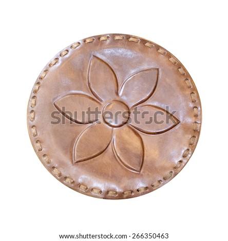 Embossed on the skin, flower - stock photo