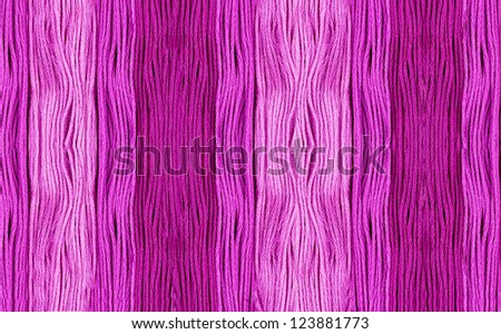 Embroidery Yarn in Various Shades of Pink - stock photo