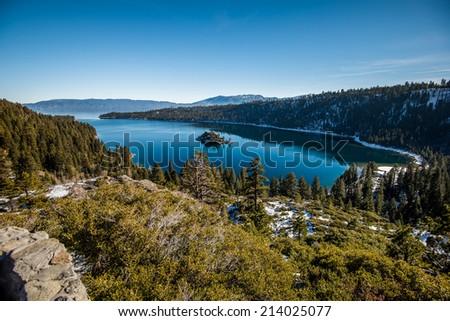 Emerald Bay at Tahoe Lake - stock photo