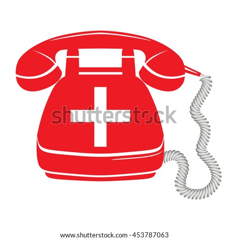 emergency call sign icon fire phone number button raster version - stock photo