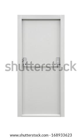 Emergency door - stock photo