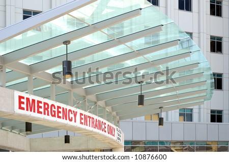 Emergency Entrance Sign - stock photo