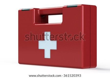 Emergency First Aid Kit - stock photo