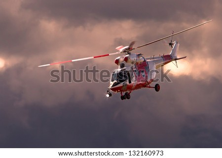 emergency helicopter - stock photo