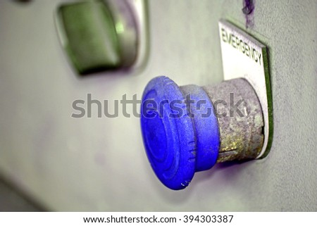 Emergency switch - stock photo