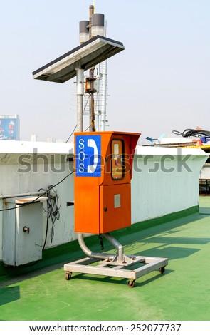 Emergency telephone SOS - stock photo