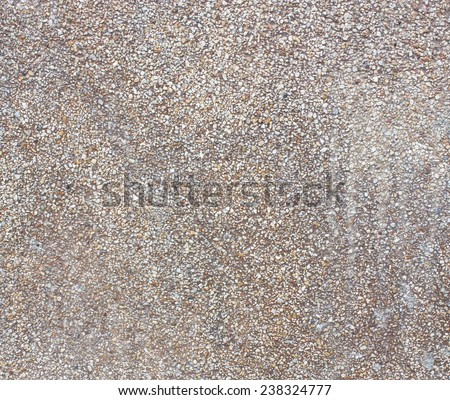 EMERY wall is a wall of sand, scrub the floor corridor in the park is beautiful Basics cursory prevent slipping due Brown mechanical failure. - stock photo
