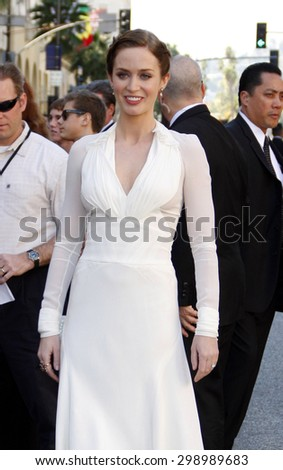 Emily Blunt at the Los Angeles premiere of 'Gnomeo And Juliet' held at the El Capitan Theatre in Hollywood on January 23, 2011.  - stock photo