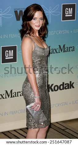 Emily Blunt attends Women In Film Presents The 2007 Crystal and Lucy Awards held at the Beverly Hilton Hotel in Beverly Hills, California, California, on June 14, 2006.  - stock photo