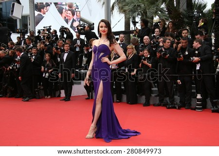 Emma Miller  attends the 'Macbeth' Premiere during the 68th annual Cannes Film Festival on May 23, 2015 in Cannes, France. - stock photo