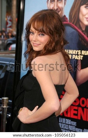 Emma Stone  at the World Premiere of 'Ghosts of Girlfriends Past'. Grauman's Chinese Theatre, Hollywood, CA. 04-27-09 - stock photo
