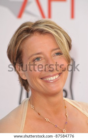 Emma Thompson at the 2010 AFI Life Achievent Award Gala, honoring director Mike Nichols, at Sony Studios, Culver City, CA. June 10, 2010  Los Angeles, CA Picture: Paul Smith / Featureflash - stock photo