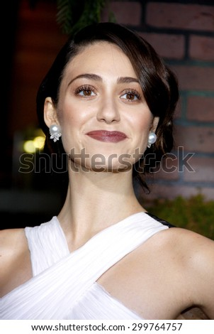 Emmy Rossum at the Los Angeles premiere of 'Beautiful Creatures' held at the TCL Chinese Theater in Hollywood on February 6, 2013 in Los Angeles, California.   - stock photo