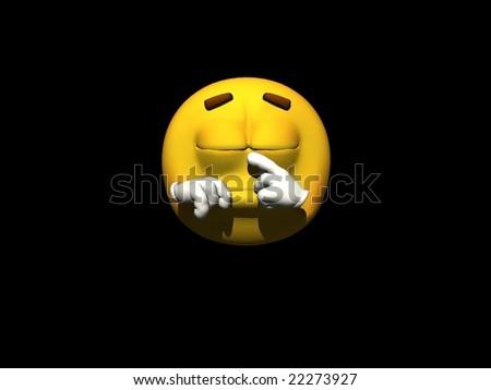 Emoticon - stock photo