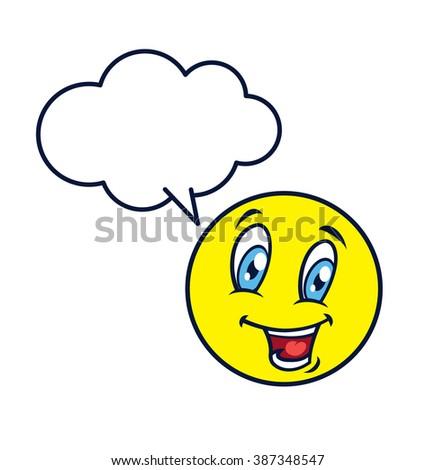 emoticon expression - stock photo