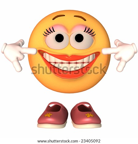 Emoticon Silly Face - stock photo